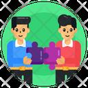 Teamwork Problem Solving Collaborative Work Icon