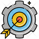 Problem Solving Creative Solution Target Solution Icon