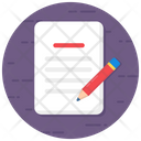 Methodology Process Writing Sheet Icon