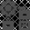 Procedure Data Flow Organize Icon