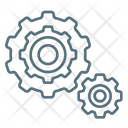 Process Work Gears Icon