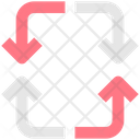 Process Arrow Circle Arrow Process Icon
