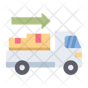 Process Delivery Truck Icon