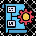 Process Management Flowchart Icon