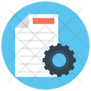 Processing File File Setting Gear Icon