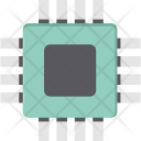 Processor Chip Integrated Icon