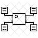 Processor Network Connection Icon