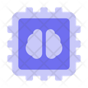 Chip Artificial Intelligence Technology Icon