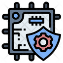Cpu Security Microchip Icon