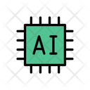 Chip Processor Ai Icon