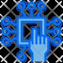 Processor Chip Hand Icon