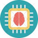 Processor Chip Brain Icon