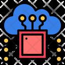 Processor Cloud Chip Icon