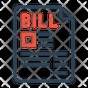 Product Bill Invoice Icon