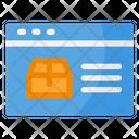 Product Description Shopping Ecommerce Icon