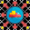 Product Distribution Distribution Disposal Icon