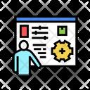 Box Characteristics Presentation Icon