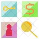 Glass Research Study Icon