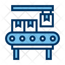 Assembly Line Packages Boxes Icon