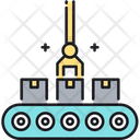 Production Line Assembly Assembly Line Icon