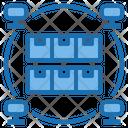 Production Big Data Blockchain Icon