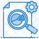 Production Analysis Pie Chart Data Analytics Icon