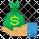 Money Bag Hand Icon