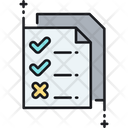 Production Priorities Checklist Notes Icon