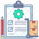 Production Analysis Production Report Production Assessment Icon