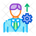 Human Productivity Growth Icon