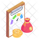Business Report Efficiency Report Productivity Report Icon