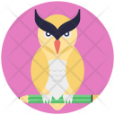 Owl Education Pencil Icon