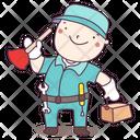 Plumber Mechanic Serviceman Icon