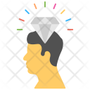 Head Diamond Precious Icon
