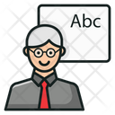School Teacher Professor Classroom Lecture Icon
