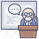 Lesson Lecture Professor Icon