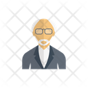 Professor Teacher Oldman Icon