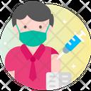 Male Teacher Vaccination Icon