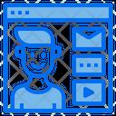 Website Online Man Icon