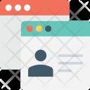 Web Content Template Icon