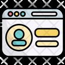 Profile Account Website Icon