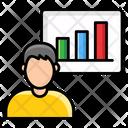 Profile Chart User Data Employee Data Icon