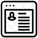 Profile Details Webpage Icon