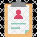 Profile Listing Profile Clipboard Memo Icon