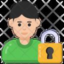 Account Lock Profile Lock Personal Protection Icon