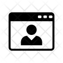 Profile Webpage Web Icon