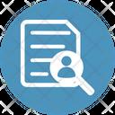Profile Search Analytics Document Icon
