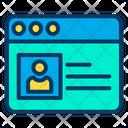Profile Website Web Page Icon
