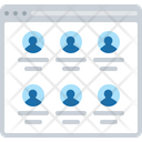 Profiles Page Profiles Users Icon