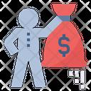Profit Cash Bag Icon